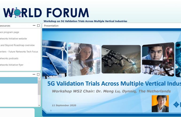 Validation Trials Workshop at 5G World Forum 2020